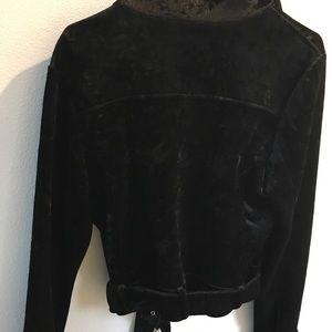 Forever 21 Jackets & Coats - 1X crushed velvet moto jacket biker blazer NEW